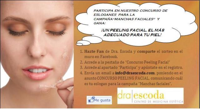 ¡Ayúdanos a escoger el eslogan para la campaña de Manchas Faciales y gana un peeling facial por tu originalidad! ¡Participa!